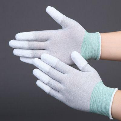 Anti-static coated finger gloves